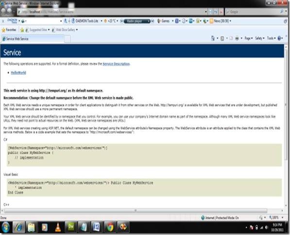 Xml Web services CSharp